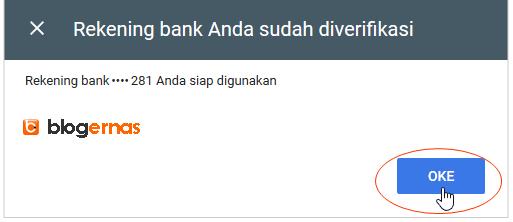 Cara Verifikasi Rekening Bank utk Transfer Adsense