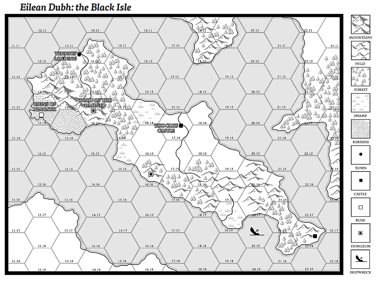 The Gazetteer to Eilean Dubh: The Black Isle