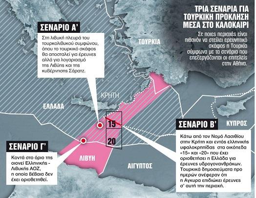 Τρία σενάρια για «θερμό επεισόδιο» με την Τουρκία μέσα στο καλοκαίρι