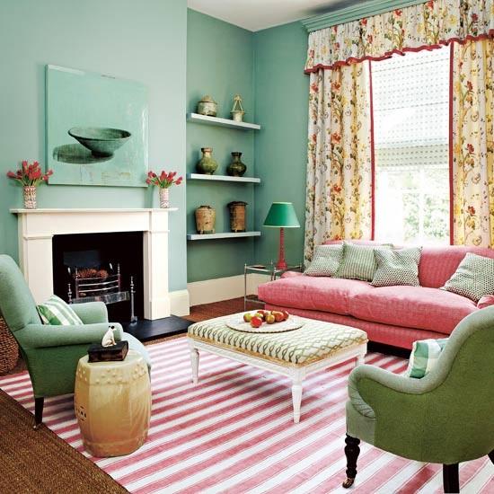 sala color rosa ideas para decorar dise ar y mejorar tu casa. Black Bedroom Furniture Sets. Home Design Ideas