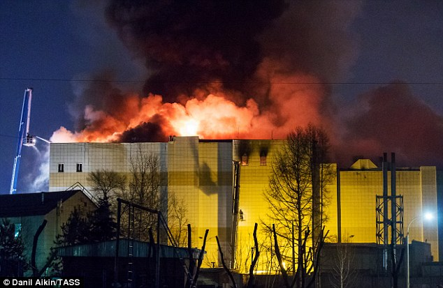 #Disaster : Dozens of children are still missing after Russian mall inferno left at least 56 dead .Last messages