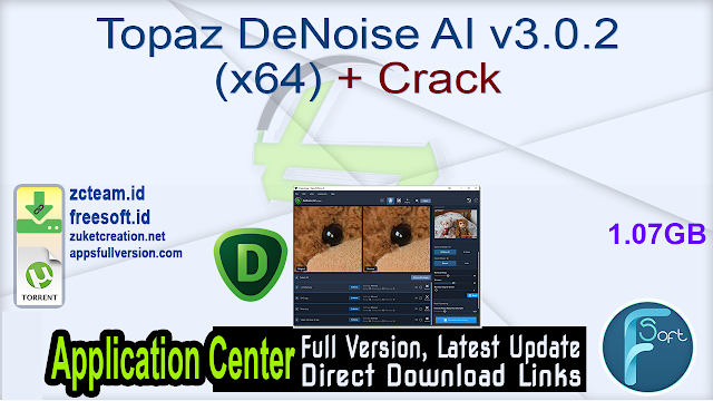 Topaz DeNoise AI v3.0.2 (x64) + Crack