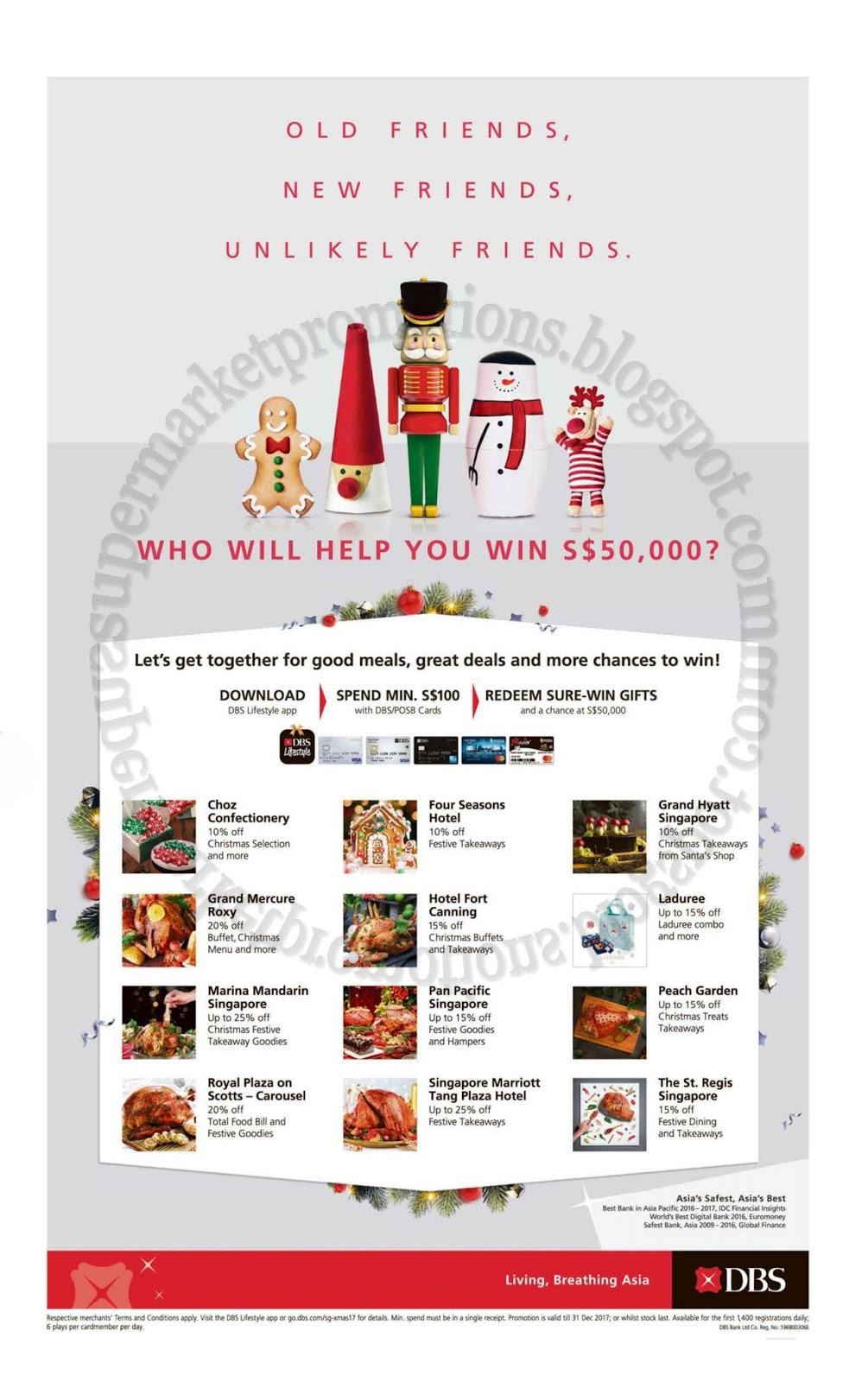 DBS Christmas Dining Deals 22 November - 31 December 2017 ...