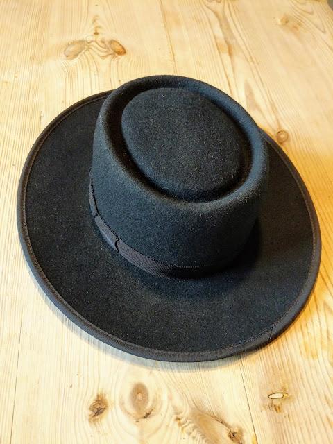 Men's Authentic Amish Black Felt Hat