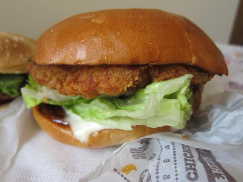 Fast food premium chicken sandwich comparison brand eating for Carl s jr fish sandwich