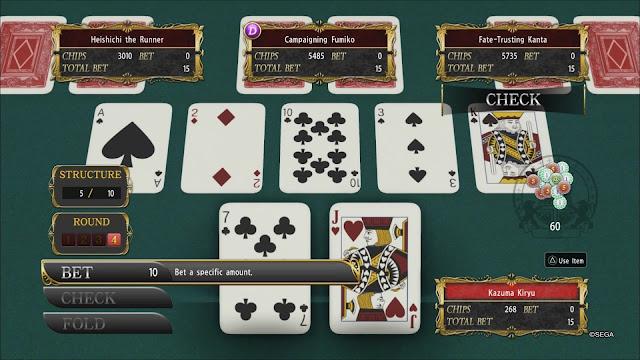 yakuza kiwami poker