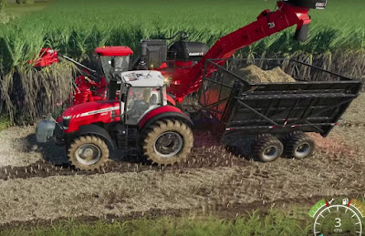 Sugarcane Harvesting Machine, FS 19, CASE IH AUSTOF 8800 MULTI-ROW