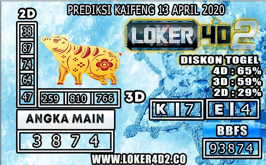 PREDIKSI TOGEL KAIFENG LOKER4D2 13 APRIL 2020