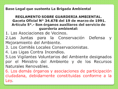 Base legal que sustenta la Brigada Ambiental