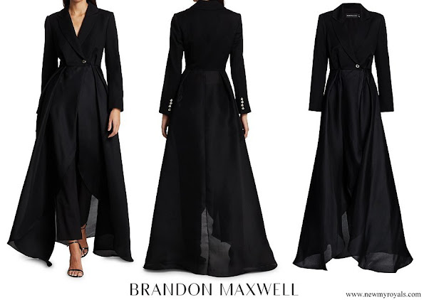 Meghan Markle wore Brandon Maxwell Gazaar Wool and Silk Statement Jacket
