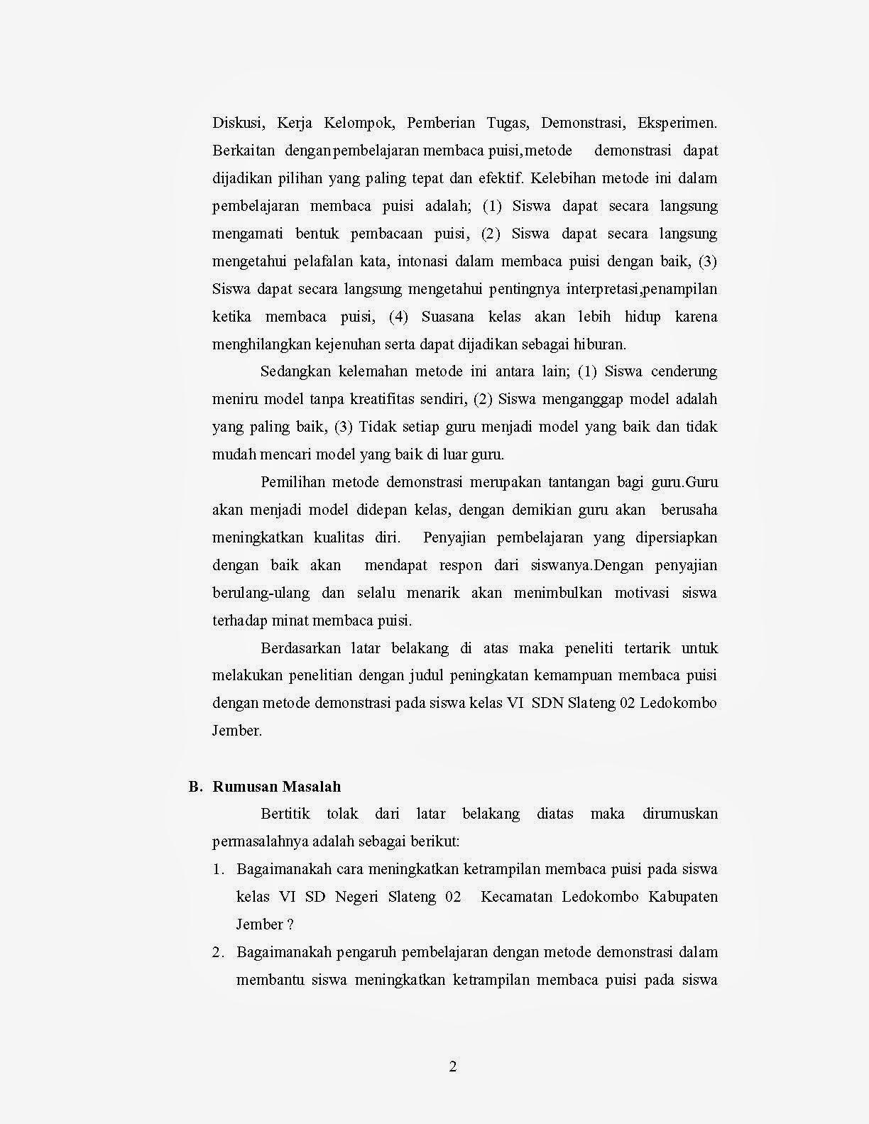 Contoh Proposal Ptk Bahasa Indonesia Smp Kelas 9 Contoh Proposal Usulan Penelitian Tindakan Kelas Slideshare Kumpulan Ptk Guru Ptk Bahasa Indonesia Kelas Iv Sd Demostrasi Puisi