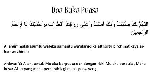 Doa Berbuka Puasa  Dan Sahur Dzahaba Yang Shahih Benar