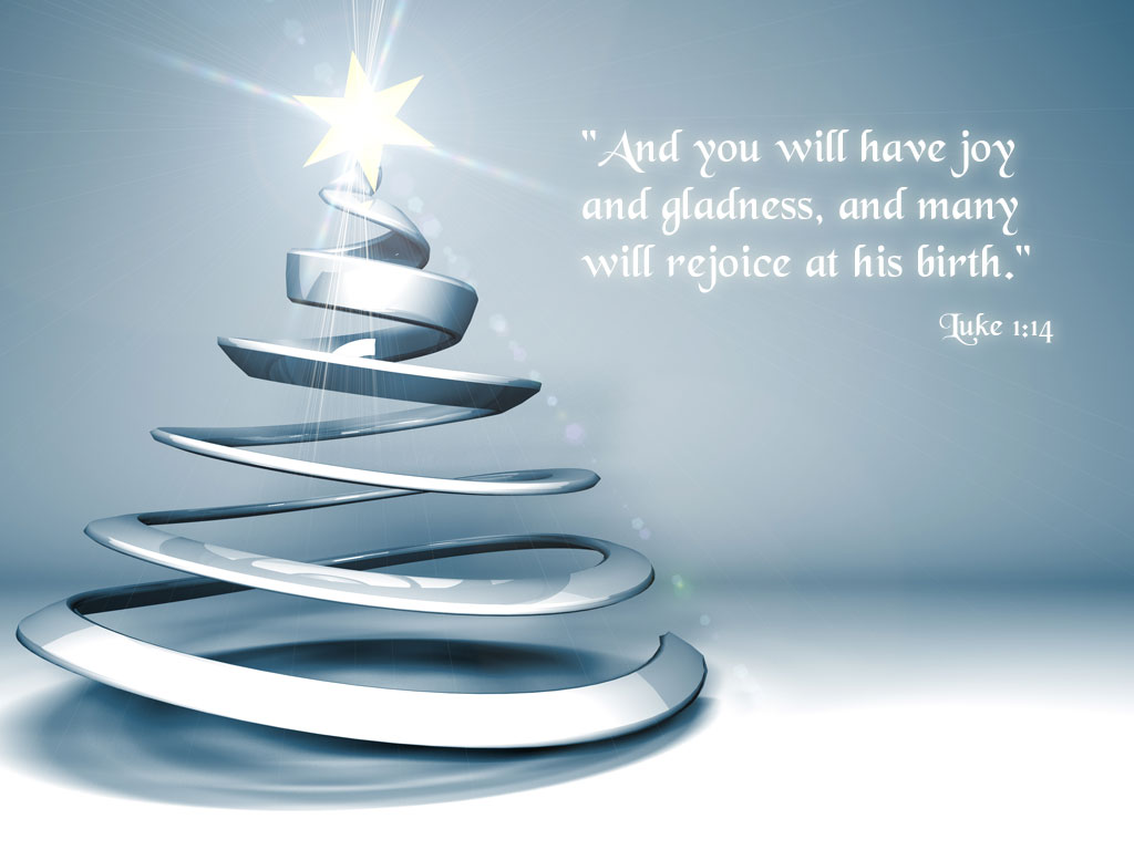 Spiritual Christmas Tree Wallpaper