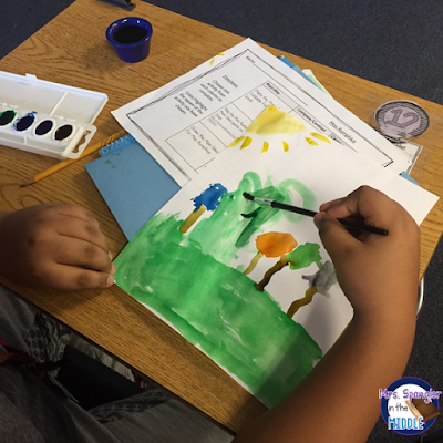 After state testing is done for the day, keep your middle school students engaged with educational arts and crafts!  #teaching #ideas