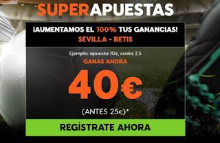 888sport supercuota el derbi Sevilla vs Betis 6 enero