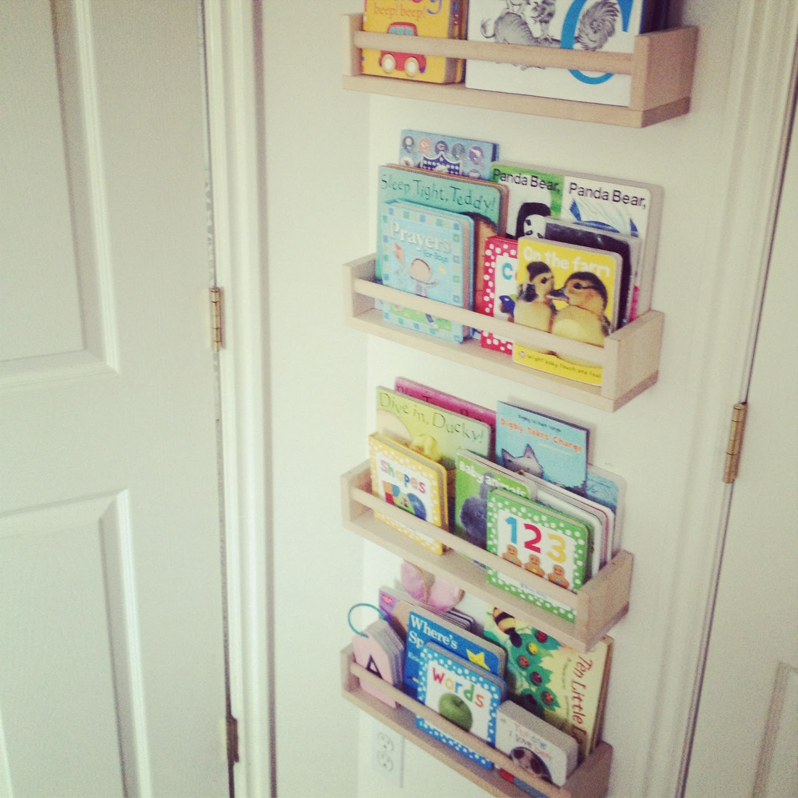 Toddler Book Storage Ideas: Big Momma O: Pinterest Project: Ikea Spice Rack Bookshelves