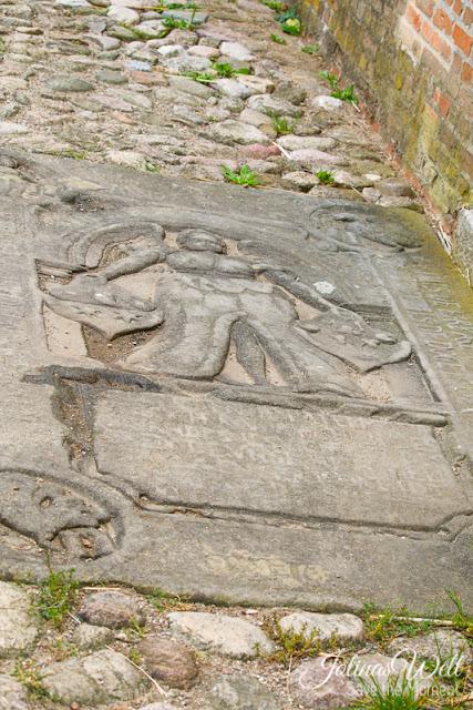 Freilichtmuseum Molfsee Norddeutschland Grabplatte