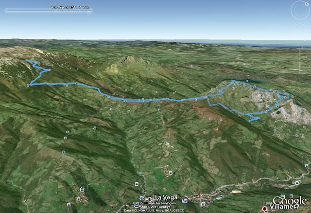Rutas Montaña Asturias: Mapa de la ruta al Monsacro y la Fayona