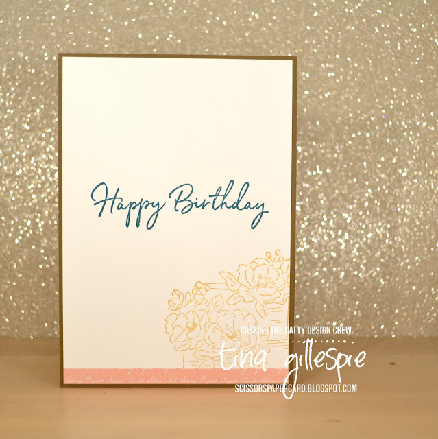 scissorspapercard, Stampin' Up!, CASEing The Catty, Happy Birthday To You, Sale-A-Bration, Varied Vases, Watercolouring, Subtles DSP