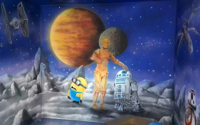Obraz namalowany w ultrafiolecie, malowidło świecące w ciemności