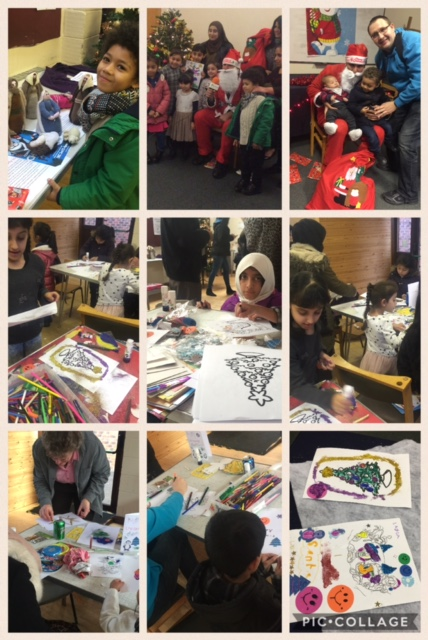 Montage of photos from our community Christmas Fair