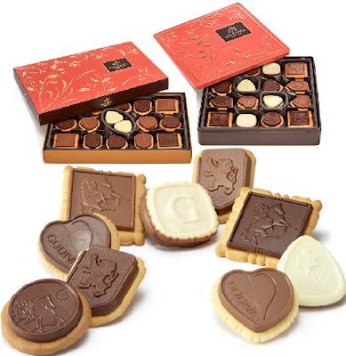 Assorted Milk Chocolate Cookies - Godiva Chocolatier Buttery Biscuits: Grocery Gift Ideas