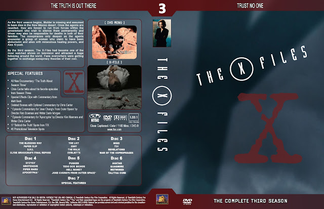 The X Files Season 3 DVD Cover