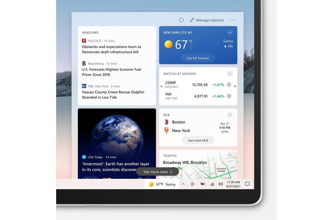 Meteo, Notizie e interessi sulla barra delle applicazioni di Windows 10