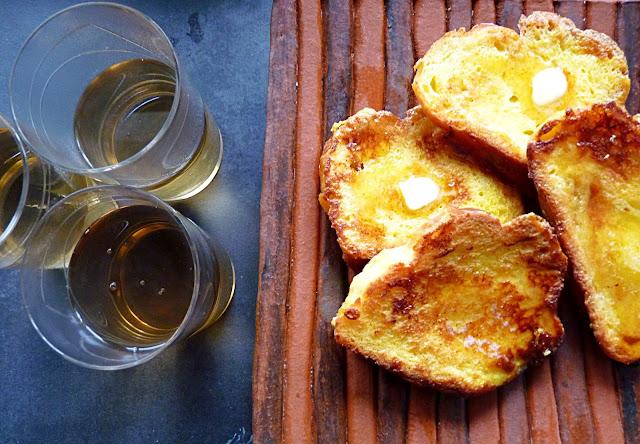 French toast és tea