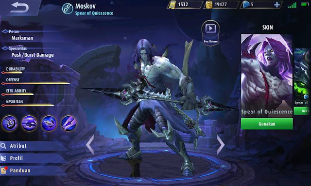 Cara Memilih Guide Item Moskov Mobile Legends :  Damage terkuat