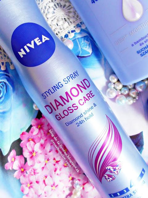 Notino Nivea Diamond Gloss Care lak na vlasy recenzia Blog de la Licorne