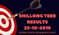 Shillong Teer Results Today-25-10-2019