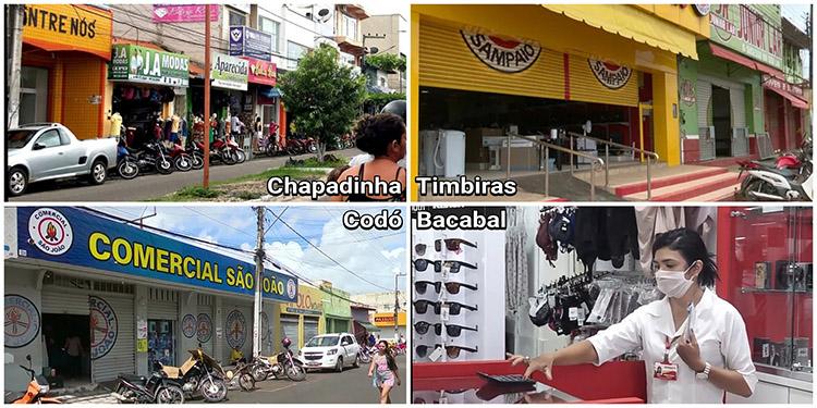 28 municípios do Maranhão reabrem comércio. 17 adotaram isolamento vertical.