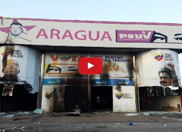 Así quemaron el PSUV de Maracay