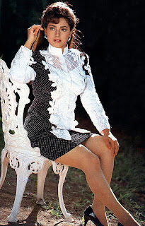 Juhi Chawla Legs Show In Black And White Skirt
