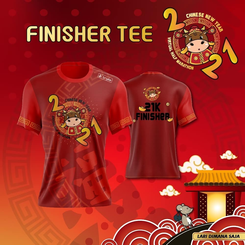 Tee 21K - Chinese New Year Virtual Half Marathon • 2021