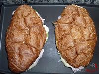 Calentando los croissant
