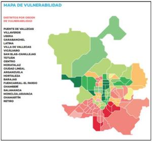 Mapa 2015. Fuente: Ayuntamiento de Madrid