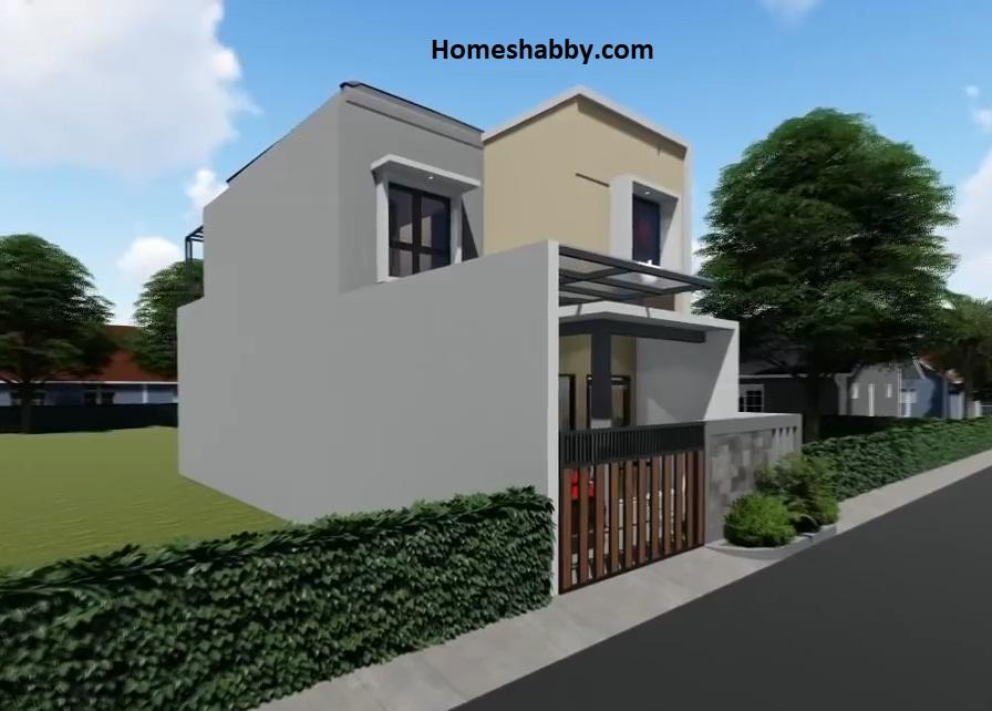 Desain dan Denah Rumah Minimalis Ukuran 6 x 15 M 2 Lantai ...