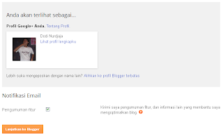 Akun Blogger step 2