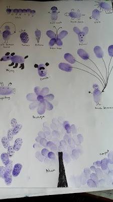 finger painting untuk anak