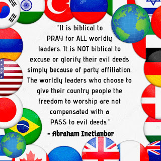 Praying for world leaders