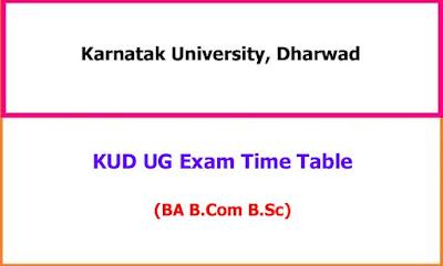 Karnatak University UG Time Table
