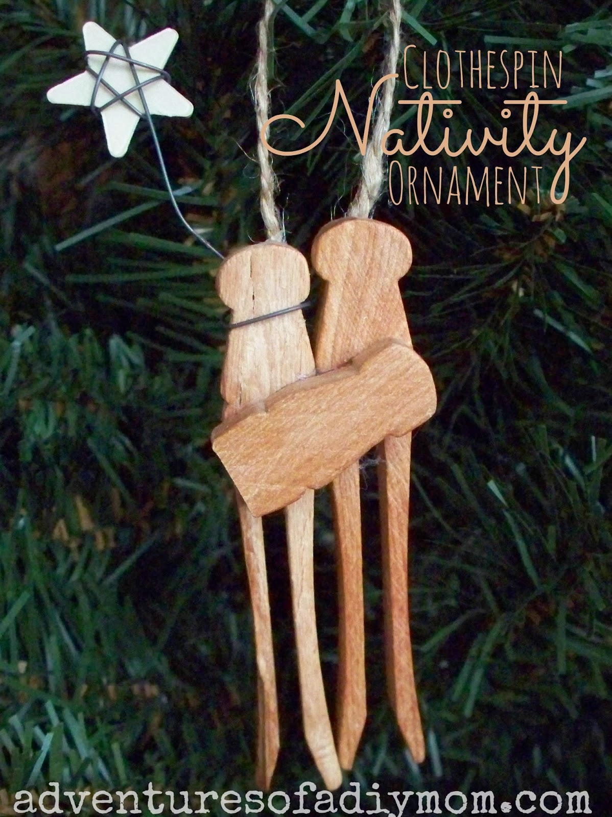 How To Make A Clothespin Nativity Ornament Nativity