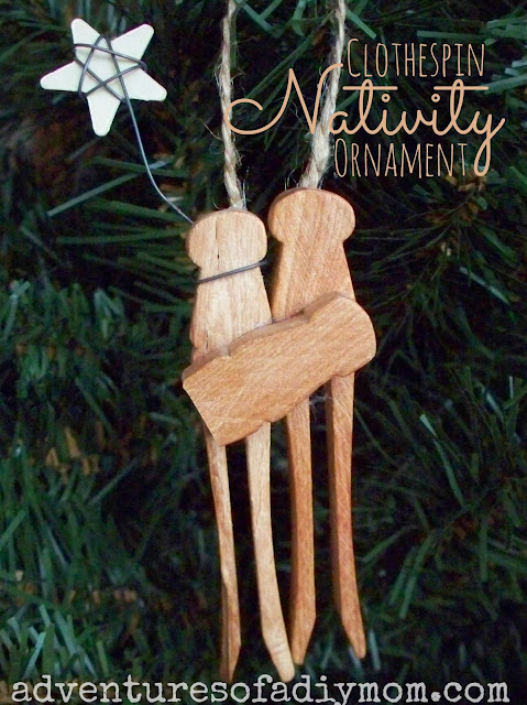 Clothespin Nativity Ornament