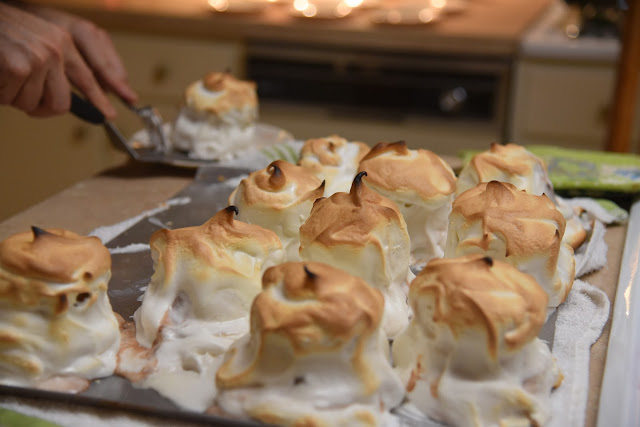 Serving up Baked Alaska!