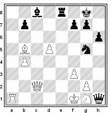 Posición de la partida de ajedrez Safin - Saltaiev (Tashkent 1989)