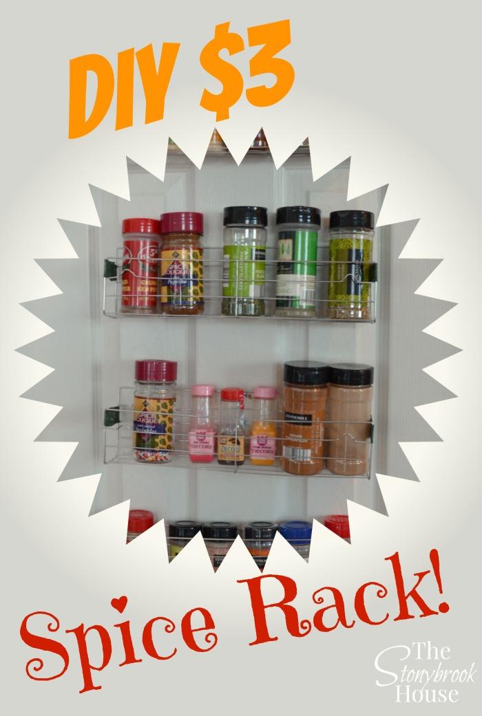 Easy DIY Spice Racks