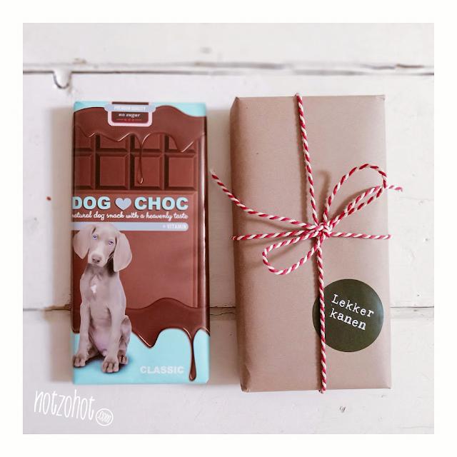 Dog Choc Beterschap hond honden cadeautje voor door de brievenbus