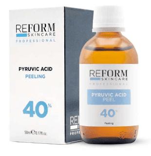 acido piruvico usado em peeling quimico
